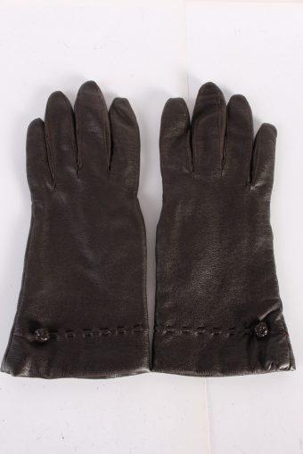 Vintage Leather Gloves Lining 7 Brown G74-117652
