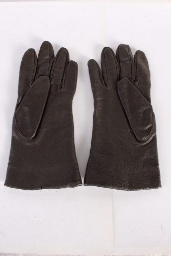 Vintage Leather Gloves Lining 7 Brown