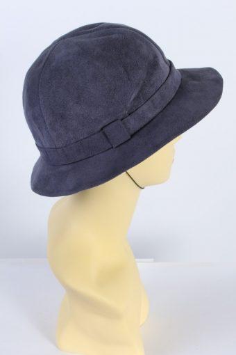 Vintage Ella Rohte Eutin Trilby Hat 1990S Fashion Blue HAT568-119149