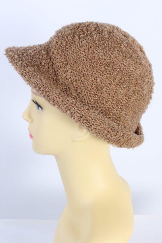 Vintage Hat 1990S Fashion Warm Winter Camel HAT595-119048