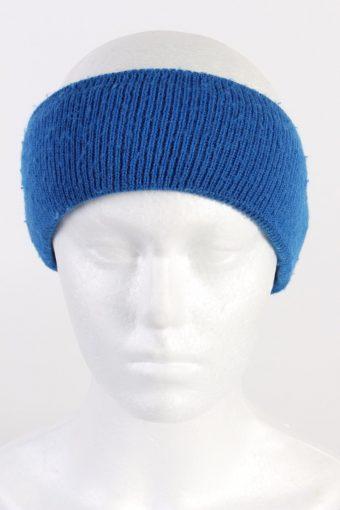 90s Knit Headband Blue