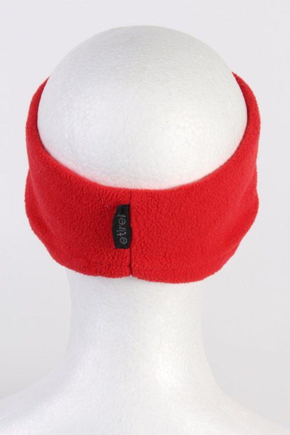 Vintage Fleece Headband Red HB027-118404