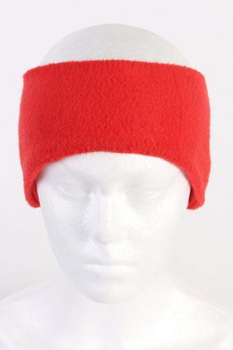 90s Fleece Headband Red