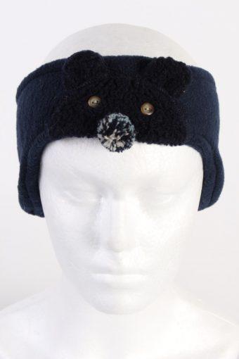 90s Fleece Headband Girls Navy