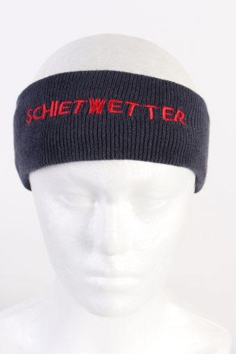 90s Knit Headband Boys Navy
