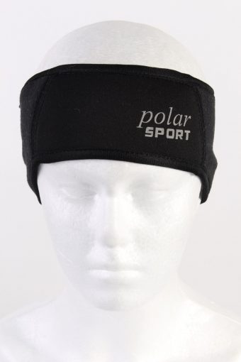 90s Polar Sport Fleece Headband Black