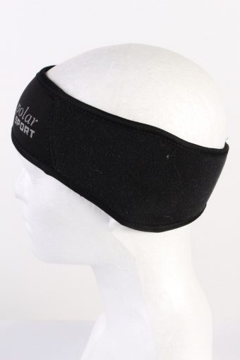 Vintage Polar Sport Fleece Headband Black HB062-118319