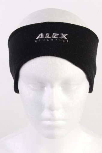 90s Alex Athletics Fleece Headband Black