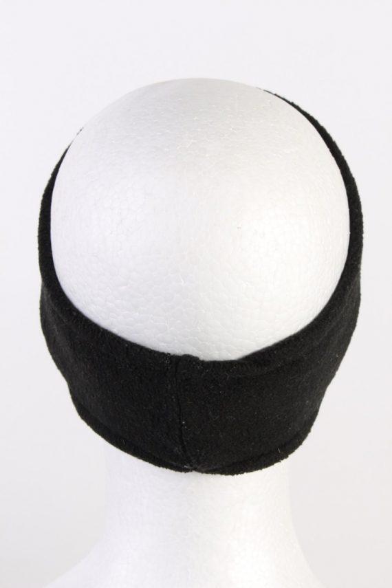 Vintage Gina Benotti Fleece Headband Black HB064-118314