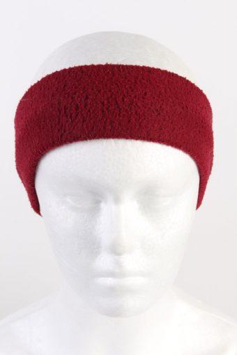 90s Fleece Headband Maroon