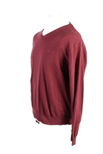 Vintage Pierre Cardin Pullover Jumper XL Bordeaux -IL1786-117360