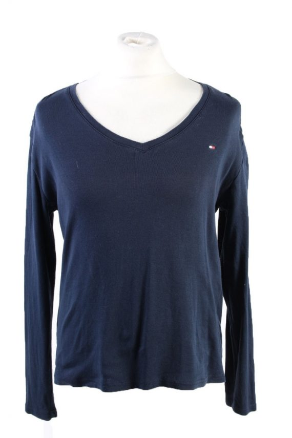 Vintage Tommy Hilfiger Pullover Jumper Size 42 Dark Blue -IL1804-0