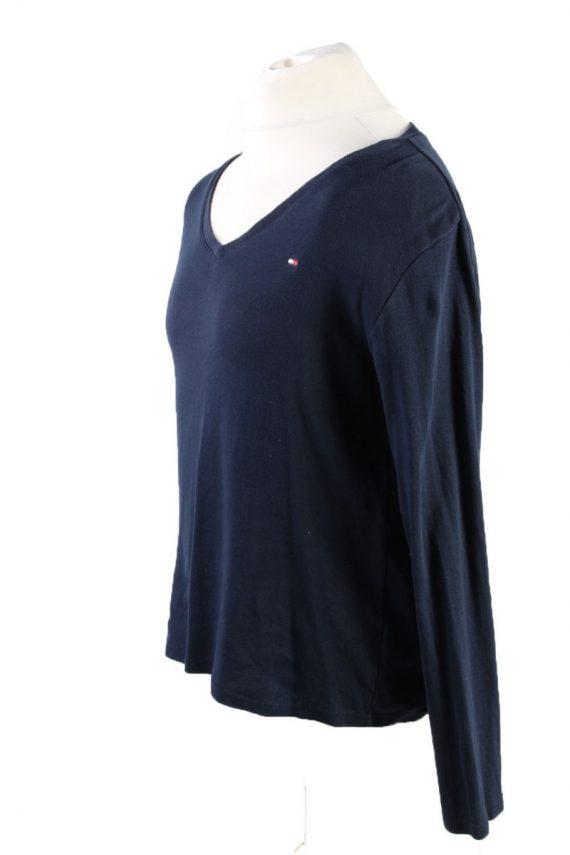 Vintage Tommy Hilfiger Pullover Jumper Size 42 Dark Blue -IL1804-117396