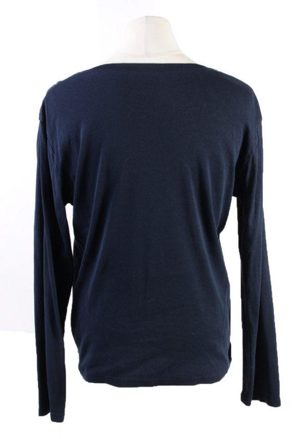 Vintage Tommy Hilfiger Pullover Jumper Size 42 Dark Blue -IL1804-117397