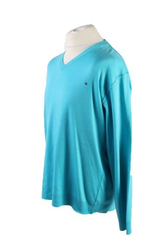 Vintage Tommy Hilfiger Pullover Jumper Size XXL Turquoise -IL1805-117400