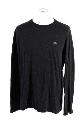 Lacoste Sweatshirt 90s Retro Dark Grey L