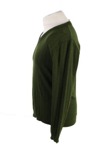 Vintage Strick Uhle Pullover Jumper 52 Green -IL1844-118529