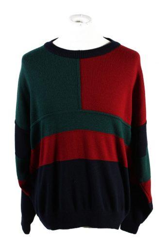 90s Retro Pullover Jumper Han De Swart Multi XXL