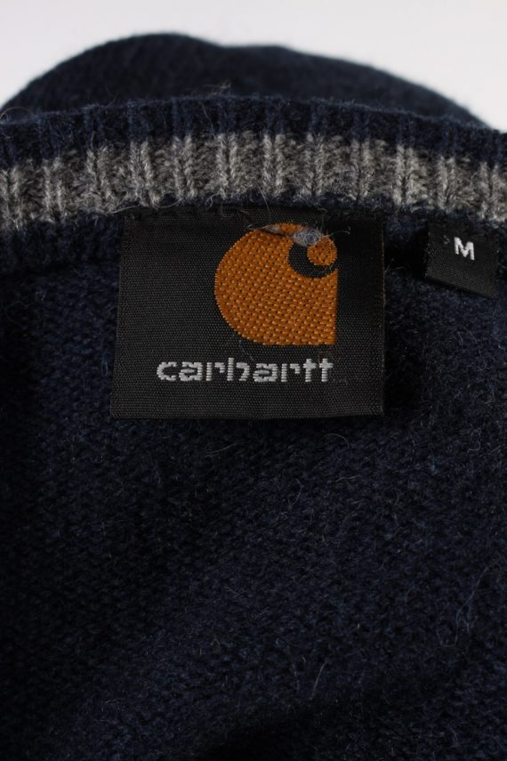 Vintage Carhartt Pullover Jumper M Navy -IL1856-118453