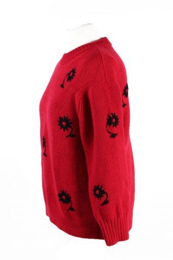 Vintage Pullover Jumper Red -IL1867-118645