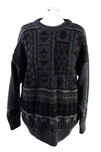 90s Retro Pullover Jumper Peter Gribby Multi M