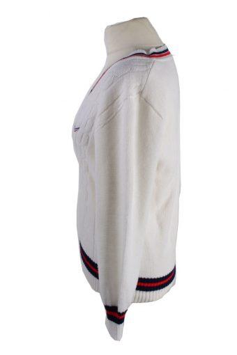 Vintage Dralon Pullover Jumper White -IL1895-118537
