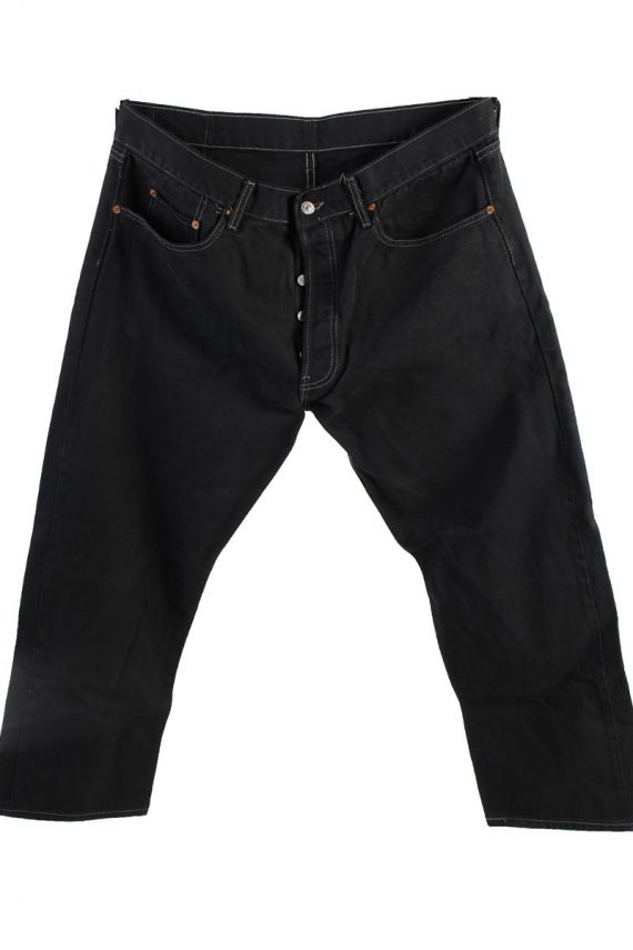Vintage Levis 501 Mens Jeans Grade A Black 38W 28L J4423-0