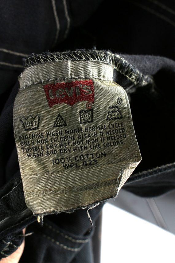 Vintage Levis 501 Mens Jeans Grade A Black 38W 28L J4423-117773