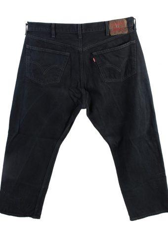 Vintage Levis 501 Straight Fit Coupe Droit Jeans Grade A Black 38W 27L J4424-117767