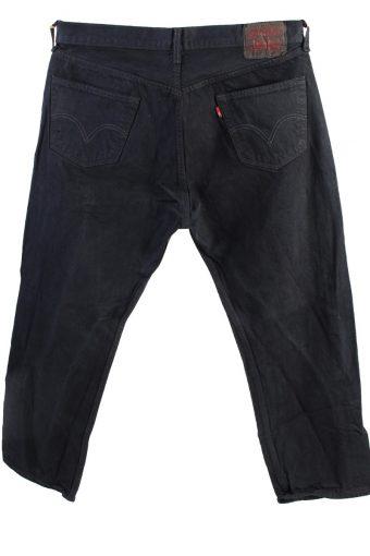 Vintage Levis 501 Straight Fit Coupe Droit Jeans Grade A Black 36W 28L J4425-117763