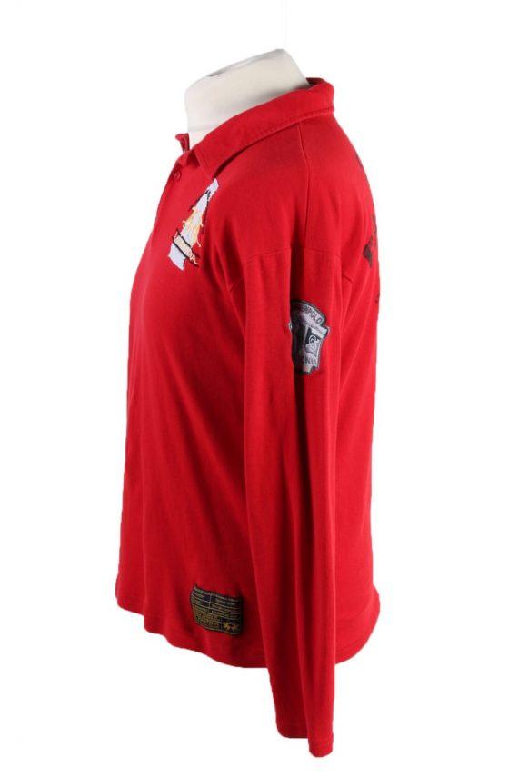 Vintage La Martina Polo Sweatshirt Boys Long Sleeve Tops XL Red -PT1200-117893