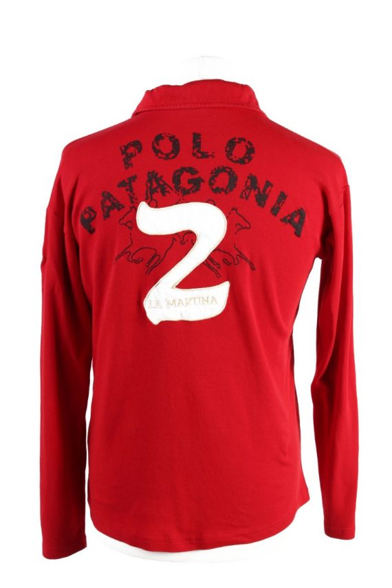 Vintage La Martina Polo Sweatshirt Boys Long Sleeve Tops XL Red -PT1200-117894