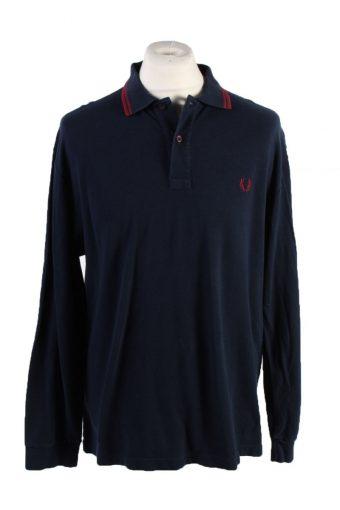 Fred Perry Polo Shirt 90s Retro Navy XXL