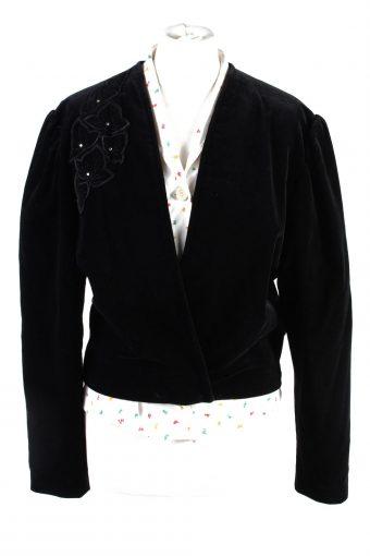 Velvet Blazer Jacket Sorf Cropped Sailer Trachten Black L