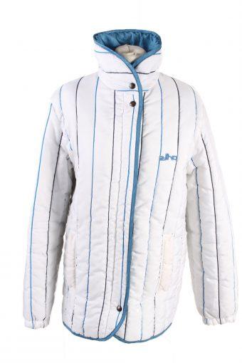 Vintage Elho Zip Fasten Ski Snowboarding Jacket White