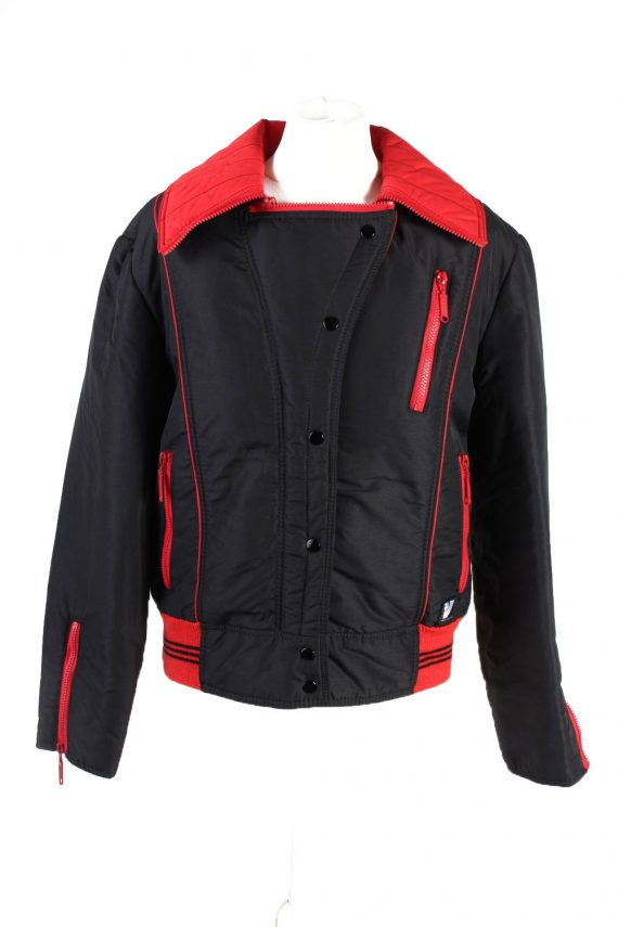 Vintage Opti Zip Fasten Ski Snowboarding Jacket 42 Black -C1694-0