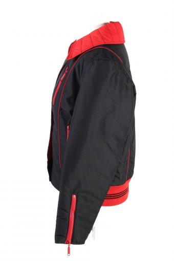 Vintage Opti Zip Fasten Ski Snowboarding Jacket 42 Black -C1694-120903