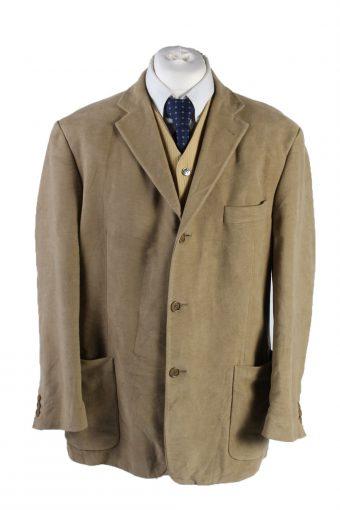 Vintage Marks&Spencer Soft Velvet Blazer Jacket 46 Cream