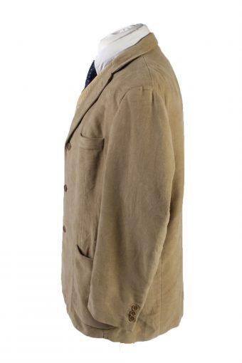 Vintage Marks&Spencer Soft Velvet Blazer Jacket 46 Cream -C1744-121110