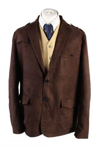 Vintage Per Luomo Soft Velvet Blazer Jacket 58 Brown