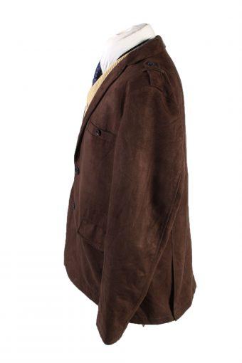 Vintage Per Luomo Soft Velvet Blazer Jacket 58 Brown -C1749-121090