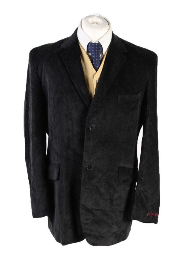 Vintage Kamao Soft Velvet Blazer Jacket 54 Black -C1751-0