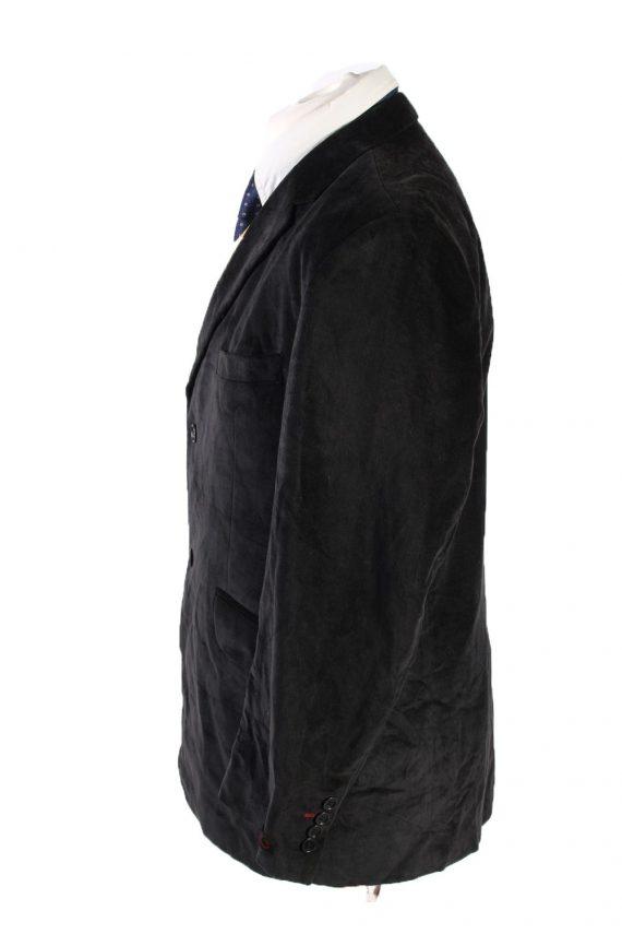 Vintage Kamao Soft Velvet Blazer Jacket 54 Black -C1751-121082