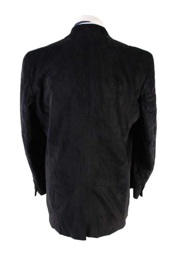 Vintage Kamao Soft Velvet Blazer Jacket 54 Black -C1751-121083