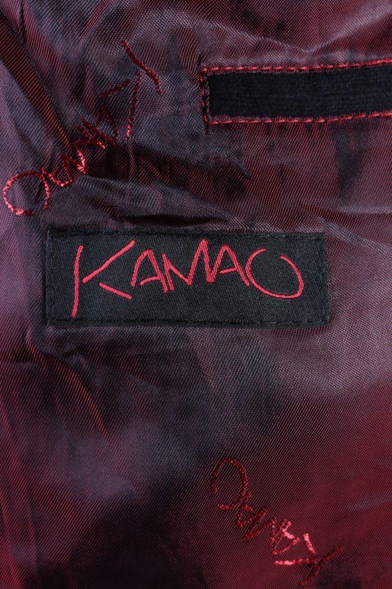 Vintage Kamao Soft Velvet Blazer Jacket 54 Black -C1751-121084