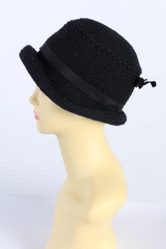 Vintage Everitt Knit Winter Hat With Belt Warmest 1990s Navy - HAT605-119344