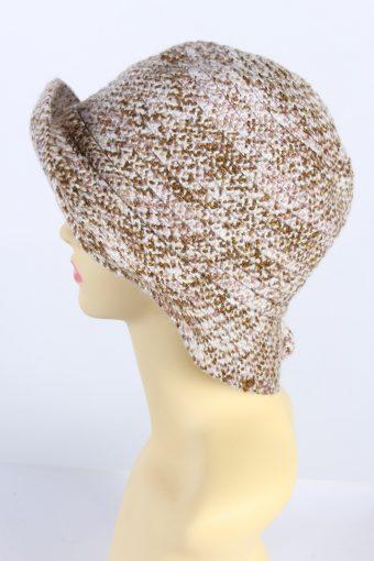 Vintage Knit Winter Hat Brimmed Warmest 1990s Fashion Multi - HAT607-119338