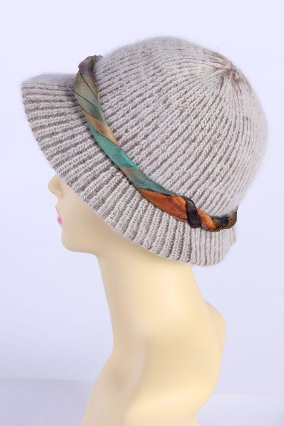 Vintage Creation Classique Avenue Knit Hat Brimmed 1990s Multi - HAT611-119324