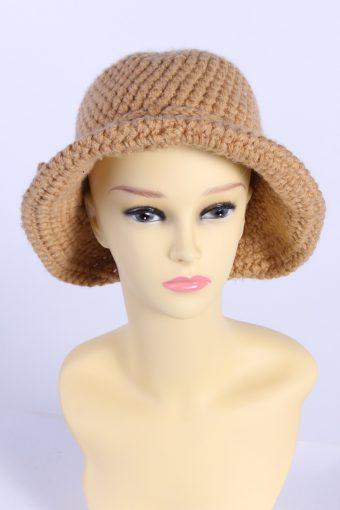 Vintage Knit Winter Hat With Small Brim Elegant