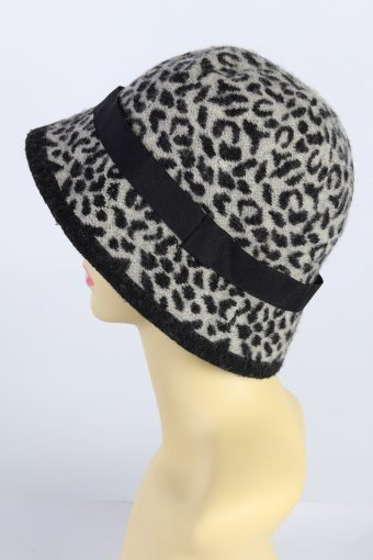 Vintage Knit Winter Hat With Stylish Belt 1990s Multi - HAT622-119282